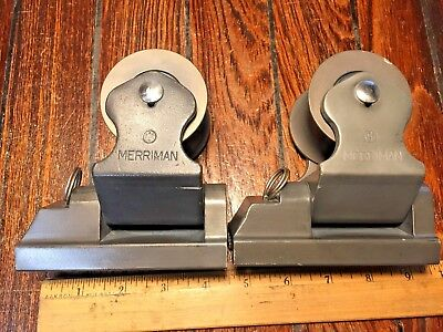 "Pair Of Large Lightly Used Merriman Twin Sheet Genoa Lead Blocks 1 1/4"" Car"