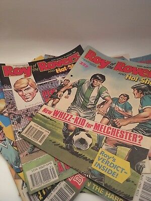 10 VINTAGE ROY OF THE ROVERS COMICS CIRCA LATE 1980s