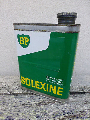 Bidon Solexine Solex Velosolex Moteur 2 Temps Bp  Oil Can Tin Ol Dose