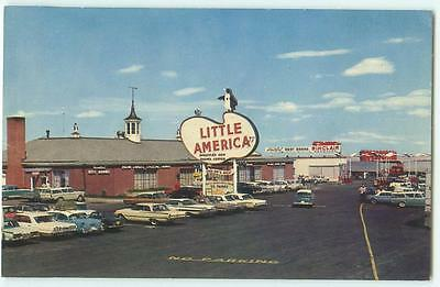 Little America Wyoming Travel Center Sinclair Antique Cars 1965 Postcard 24542
