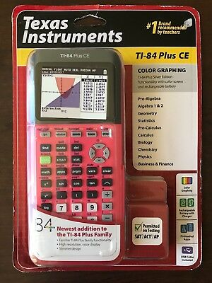 NEW Texas Instruments Ti-84 Plus CE Graphing Calculator Coral Pink