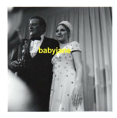 Barbra Streisand John Wayne Vintage 3.5X3.5 Photo Taken At 1969 Academy Awards