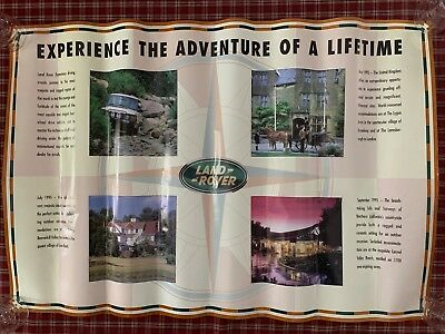 ORIGINAL, VINTAGE 1995 LAND ROVER EXPERIENCE Poster