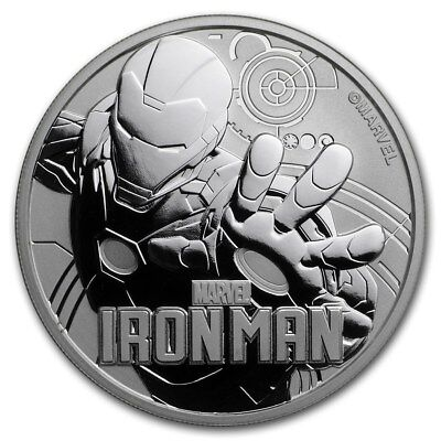 2018 Iron Man 1 oz Silver Coin Marvel Tuvalu Perth Mint - from mint roll