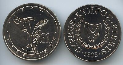 GS542 - Zypern 1 Pound 1995 KM#70 UNC World Food Day FAO Cyprus