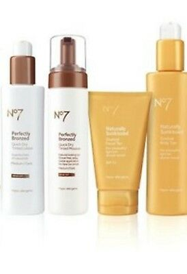 No.7 Perfectly Bronzed & Naturally Sunkissed Gradual Face & Body Tan Products