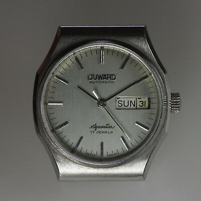 Duward Aquastar AS 2066 Swiss Automatic 17J Day Date Mens