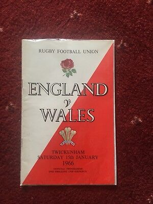 England v Wales Rugby Union Programme, 1966