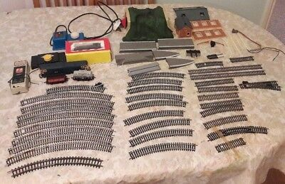 Job Lot OO Gauge Track, Wagons, Platform, Controller, Hornby Class J5 Locomotive