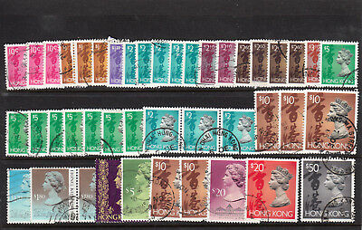 Hong Kong QEII Commercially Used Definitives