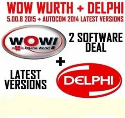 ** Delphi 2014R.3 & Wow würth 5.00.8 Diagnose Universal Deutsch **