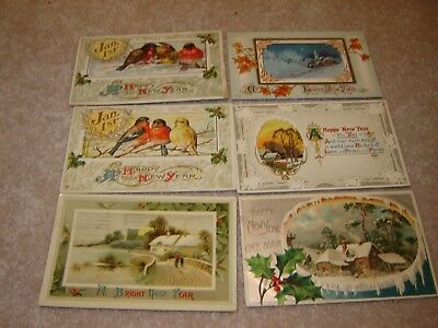 LOT I VINTAGE HAPPY NEW YEARS POSTCARDS large lot of 44 BEAUTIFUL cards