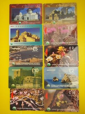 10 Cyprus used phonecards