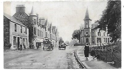 BIRNAM Postcard Early Perthshire Murthly Terrace Animated 1924