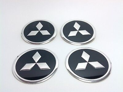 NEW 4pcs Decal Alu Stickers for Wheel Centre Cap Hubs for MITSUBISHI  - 60mm