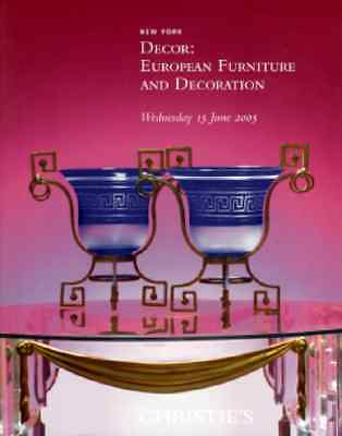 Christie's Decor: European Furniture And Decoration