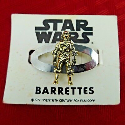 Vintage Star Wars C3-PO Hair Barrette 1977 Carded New Old Stock Scarce