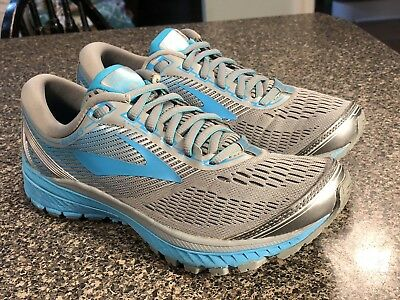 Brooks Ghost 10 Running Shoes - Women's Size 7.5 D - Grey/Teal