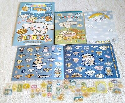 Authentic Vintage Sanrio Cinnamoroll Stationery Stickers Notepad Notebook