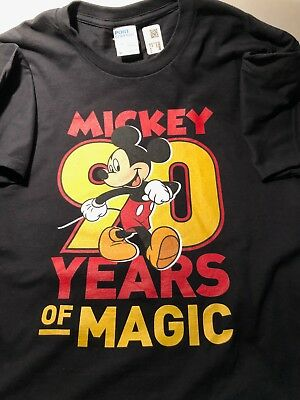 """MICKEY MOUSE DISNEY BRAND """"Official"""" 90th ANNIVERSARY T-SHIRT"""