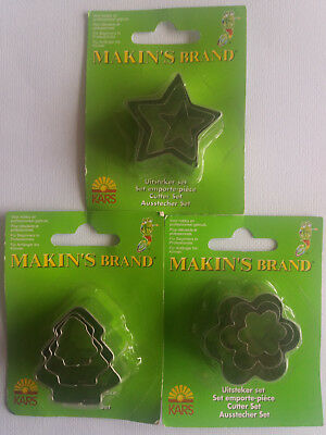 Kars 3 x Makin's Brand Cutter Sets for Modelling - Craft Room Clear Out