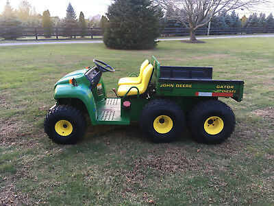 John Deere Diesel Gator 6X4 With Electric Dump Bed And Plow! Must Sell!