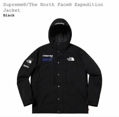 997057388 *NEW* SUPREME X The North Face Expedition Jacket Medium black Gore-Tex  Cordura