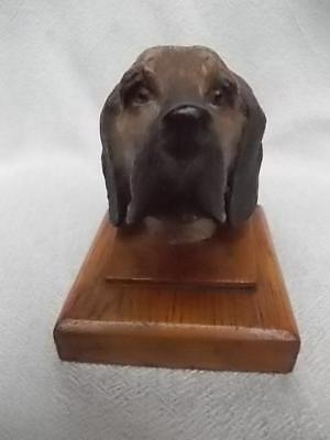 974 / Beautifully Hand Carved Early 20Th Century Figure Of A Dogs Head