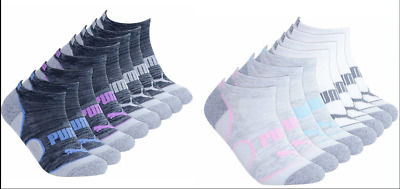 PUMA Low Cut Women's Socks No Show Athletic Cushioned 8-Pack 8 Pairs