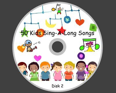51 CHILDREN'S FAVOURITES SINGALONG SONGS/NURSERY RHYMES ON 1 AUDIO CD Disk 2
