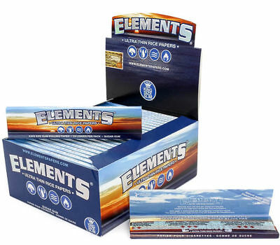 Elements King Size Slim Rolling Paper - 25 PACKS - Natural Ultra Thin Rice