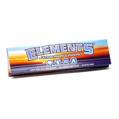 Elements King Size Rolling Paper - 1 PACK - Natural Ultra Thin Rice