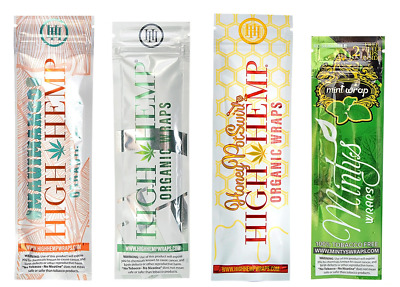 4x Packs Variety ( High Mintys Wraps ) Honey Pot Swirl Maui Mango