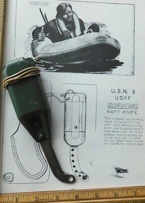 WW2 or Vietnam Life Raft Survival Knife