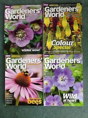 Bundle x 4 2013 BBC Gardeners World Subscribers Edition magazines