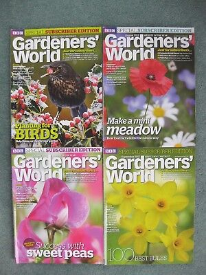 Bundle x 4 2012 & 2013 BBC Gardeners World Subscribers Edition magazines