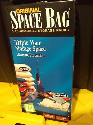 Original Space Bag Vacuum Seal Storage Packs Jumbo And Large Sizes Included New