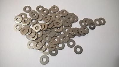 """SM220 Qty 84 pcs  Round Flat Washer for 1/4"""" Bolt Size,  Stainless Steel"""