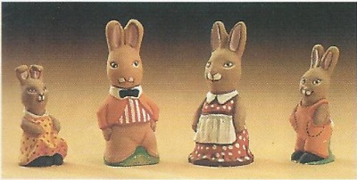 MOULDS ONLY Supercast Mr & Mrs Rabbit with Family reusable latex moulds