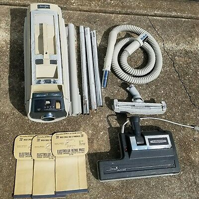 Vintage Electrolux Diamond Jubilee Canister Vacuum Cleaner 1521 W/ Bags Works