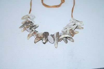 Deer brow tine necklace....  v383 .... .... replica primitive...
