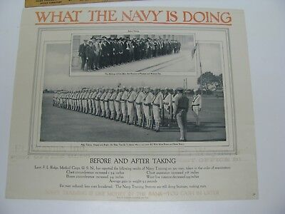 What Is The Navy Doing Recruiting Poster Training Military Ship World War I - Ii