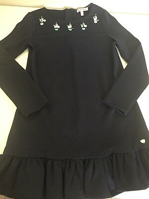 Juicy Couture Girls Dress Size Large Long Sleeve Navy Blue
