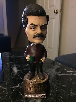 Official TV Parks and Recreation Ron Swanson Collectible Bobble Head Bobblehead