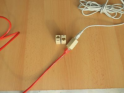 Kupplung Adapter Patch Kabel Verlangerung Modular Rj45 Lan Cat5