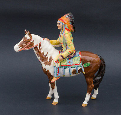 Vintage Beswick Mounted Indian on Horse Figurine # 1391 Gloss Mint 1955-1990