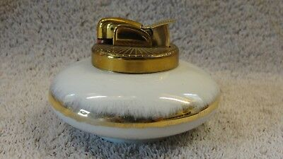 Vintage Evans Bone China Lighter, White & Gold