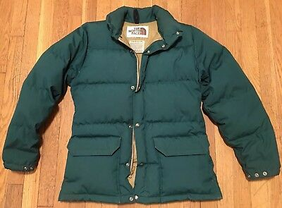 5459e4726b Vintage North Face Down Puffer Jacket Green Brown Label Mens XS Extra Small
