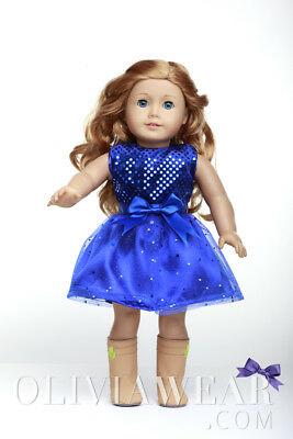 Doll Clothes Fits American Girl 18inch Dress - FREE SHIPPING FROM USA #002