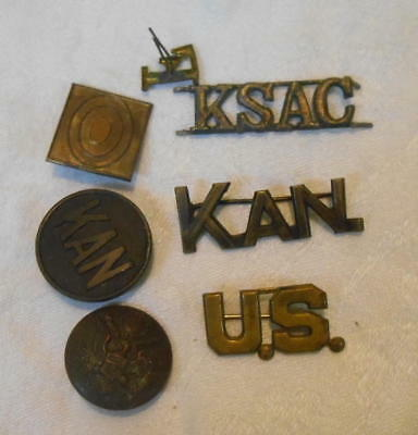 Lot of KSAC Kansas State Agricultural college Uniform Insignia KAN US F MORE